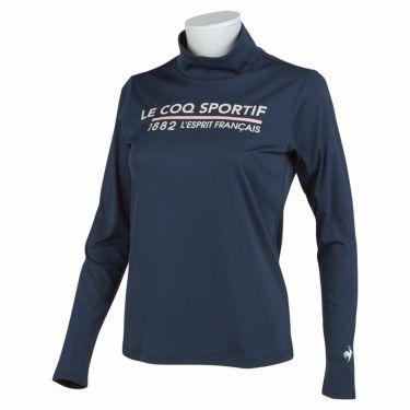 ルコック Le coq sportif レディース ロゴプリント 長袖 ハイネックシャツ QGWSJB01 2021年モデル ネイビー(NV00)