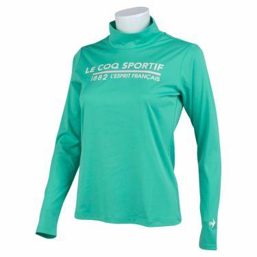 ルコック Le coq sportif レディース ロゴプリント 長袖 ハイネックシャツ QGWSJB01 2021年モデル エメラルド(EM00)