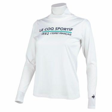 ルコック Le coq sportif レディース ロゴプリント 長袖 ハイネックシャツ QGWSJB01 2021年モデル ホワイト(WH00)