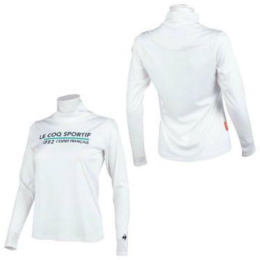 ルコック Le coq sportif レディース ロゴプリント 長袖 ハイネックシャツ QGWSJB01 2021年モデル 詳細3