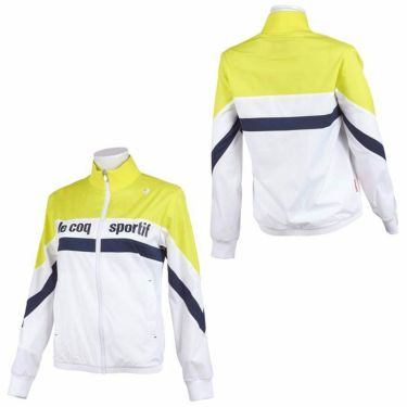 ルコック Le coq sportif レディース 撥水 ロゴプリント カラーブロック 長袖 フルジップ ブルゾン QGWSJK00 2021年モデル 詳細3