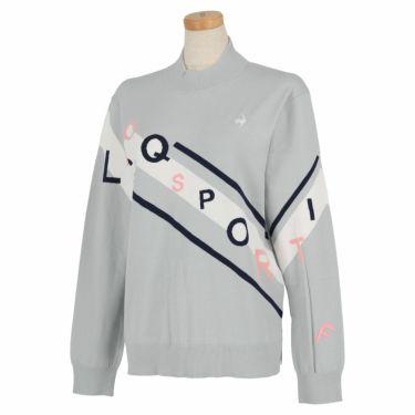 ルコック Le coq sportif レディース ロゴデザイン 長袖 モックネック セーター QGWSJL00 2021年モデル グレー(GY00)