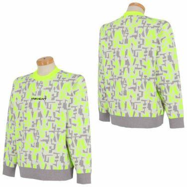 ビバハート VIVA HEART メンズ タイポグラフィ柄 ジャガード 長袖 クルーネック セーター 011-15910 2021年モデル 詳細3