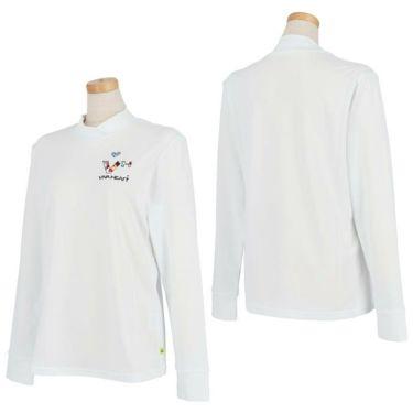 ビバハート VIVA HEART レディース ロゴデザイン ベア天竺 長袖 モックネックシャツ 012-25810 2021年モデル 詳細3