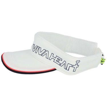 ビバハート VIVA HEART レディース ロゴプリント サンバイザー 013-55860 05 オフホワイト 2021年モデル 詳細1