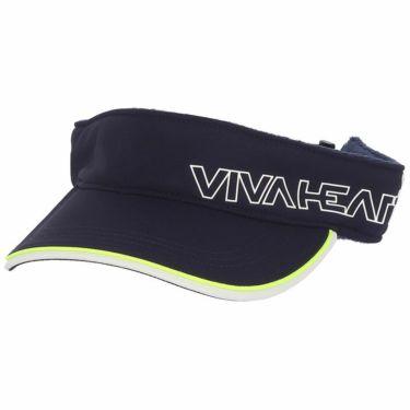 ビバハート VIVA HEART レディース ロゴプリント サンバイザー 013-55860 98 ネイビー 2021年モデル ネイビー(98)