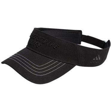 アディダス adidas メンズ 立体ロゴ刺繍 ステッチ サンバイザー EKW08 GU8658 ブラック 2021年モデル ブラック(GU8658)