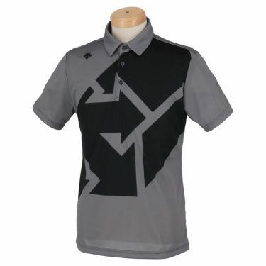 デサントゴルフ DESCENTE GOLF メンズ グラフィックプリント柄 半袖 ポロシャツ DGMSJA09 2021年モデル グレー(GY00)