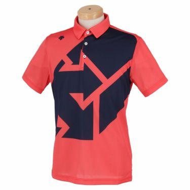 デサントゴルフ DESCENTE GOLF メンズ グラフィックプリント柄 半袖 ポロシャツ DGMSJA09 2021年モデル ピンク(PK00)