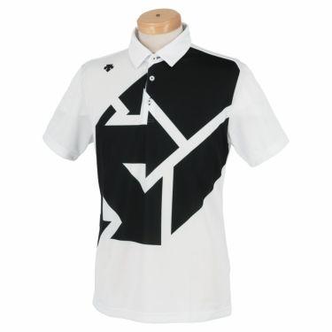 デサントゴルフ DESCENTE GOLF メンズ グラフィックプリント柄 半袖 ポロシャツ DGMSJA09 2021年モデル ホワイト(WH00)
