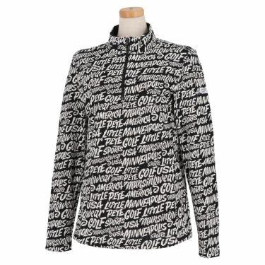 マンシングウェア Munsingwear レディース Ximena Jimenez コラボ 総柄 長袖 ハーフジップシャツ MEWSJB01 2021年モデル ブラック(BK00)