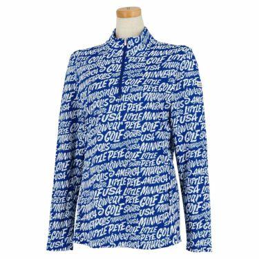 マンシングウェア Munsingwear レディース Ximena Jimenez コラボ 総柄 長袖 ハーフジップシャツ MEWSJB01 2021年モデル ブルー(BL00)