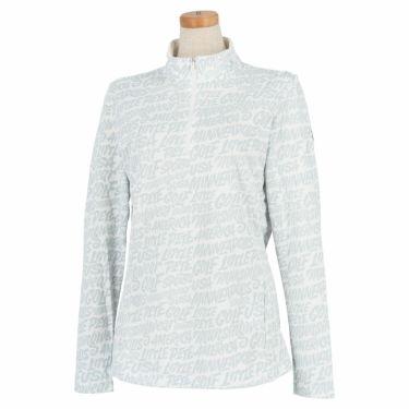 マンシングウェア Munsingwear レディース Ximena Jimenez コラボ 総柄 長袖 ハーフジップシャツ MEWSJB01 2021年モデル ホワイト(WH00)