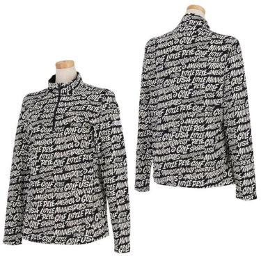 マンシングウェア Munsingwear レディース Ximena Jimenez コラボ 総柄 長袖 ハーフジップシャツ MEWSJB01 2021年モデル 詳細3