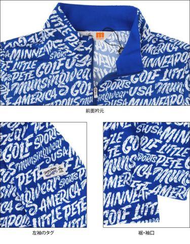 マンシングウェア Munsingwear レディース Ximena Jimenez コラボ 総柄 長袖 ハーフジップシャツ MEWSJB01 2021年モデル 詳細4