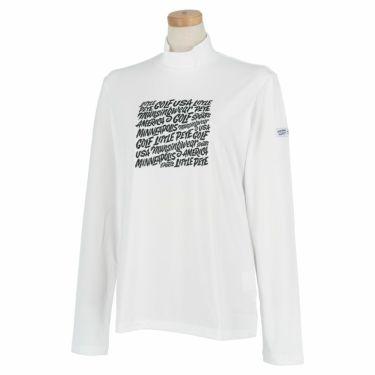 マンシングウェア Munsingwear レディース Ximena Jimenez コラボ 長袖 モックネックシャツ MEWSJB02 2021年モデル ホワイト(WH00)