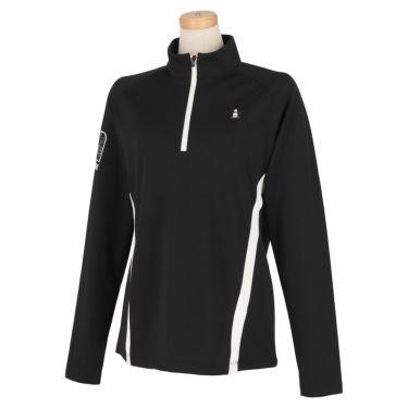 マンシングウェア Munsingwear レディース 配色切替 長袖 ハーフジップシャツ MEWSJB05 2021年モデル ブラック(BK00)