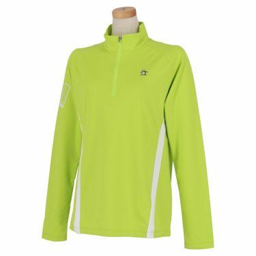 マンシングウェア Munsingwear レディース 配色切替 長袖 ハーフジップシャツ MEWSJB05 2021年モデル ライム(LM00)