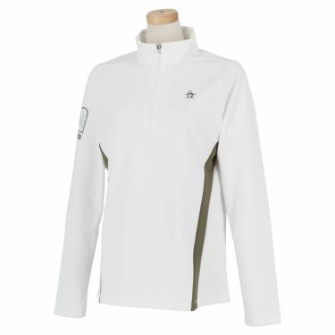 マンシングウェア Munsingwear レディース 配色切替 長袖 ハーフジップシャツ MEWSJB05 2021年モデル ホワイト(WH00)