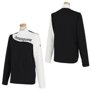 マンシングウェア Munsingwear レディース アシンメトリーデザイン 配色切替 長袖 ハイネックシャツ MEWSJB06 2021年モデル 詳細3