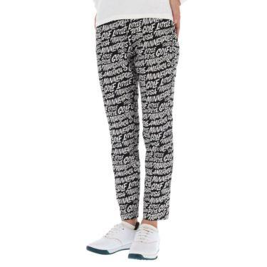 マンシングウェア Munsingwear レディース Ximena Jimenez コラボ 総柄 ストレッチ 9分丈 パンツ MEWSJD01 2021年モデル ブラック(BK00)