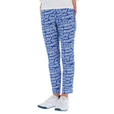 マンシングウェア Munsingwear レディース Ximena Jimenez コラボ 総柄 ストレッチ 9分丈 パンツ MEWSJD01 2021年モデル ブルー(BL00)