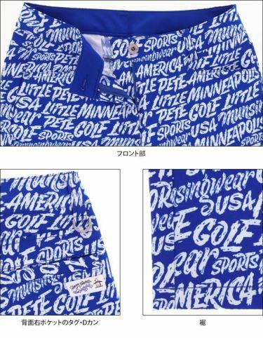 マンシングウェア Munsingwear レディース Ximena Jimenez コラボ 総柄 ストレッチ 9分丈 パンツ MEWSJD01 2021年モデル 詳細5