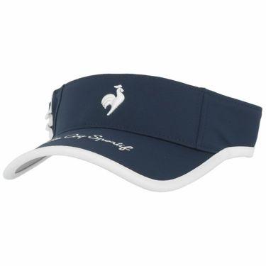 ルコック Le coq sportif レディース ロゴ刺繍 サンバイザー QGCSJC50W NV00 ネイビー 2021年モデル ネイビー(NV00)
