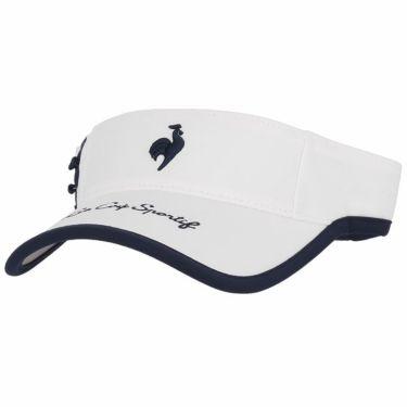 ルコック Le coq sportif レディース ロゴ刺繍 サンバイザー QGCSJC50W WH00 ホワイト 2021年モデル ホワイト(WH00)