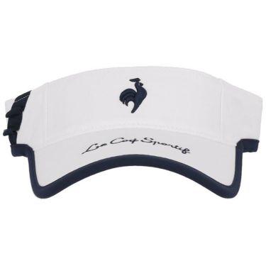 ルコック Le coq sportif レディース ロゴ刺繍 サンバイザー QGCSJC50W WH00 ホワイト 2021年モデル 詳細3