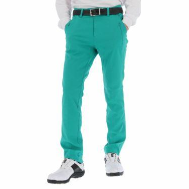 ルコック Le coq sportif メンズ 撥水 ロゴ刺繍 ストレッチ ロングパンツ QGMSJD02 2021年モデル [裾上げ対応1●] エメラルド(EM00)