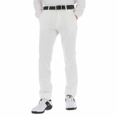 ルコック Le coq sportif メンズ 撥水 ロゴ刺繍 ストレッチ ロングパンツ QGMSJD02 2021年モデル [裾上げ対応1●] ホワイト(WH00)