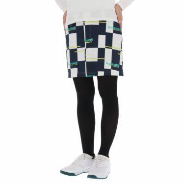ルコック Le coq sportif レディース ロゴ刺繍 カラーブロック ストレッチ スカート QGWSJE05 2021年モデル ネイビー(NV00)