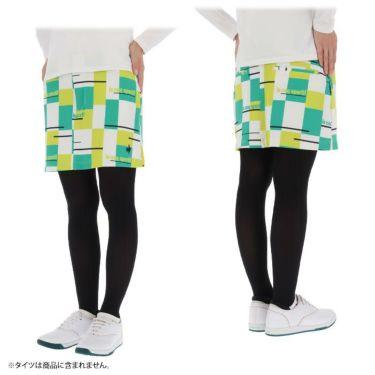 ルコック Le coq sportif レディース ロゴ刺繍 カラーブロック ストレッチ スカート QGWSJE05 2021年モデル 詳細3