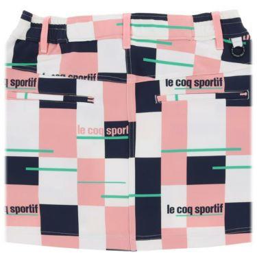 ルコック Le coq sportif レディース ロゴ刺繍 カラーブロック ストレッチ スカート QGWSJE05 2021年モデル 詳細4