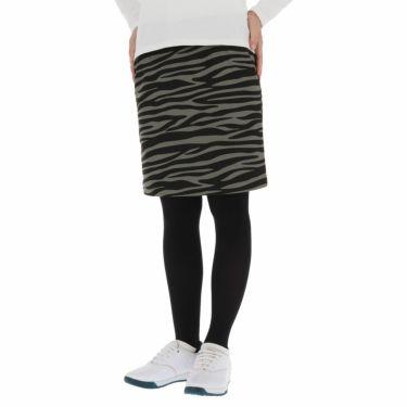 ルコック Le coq sportif レディース ゼブラ柄 裏起毛 ストレッチ ボンディング スカート QGWSJE12 2021年モデル ブラック(BK00)