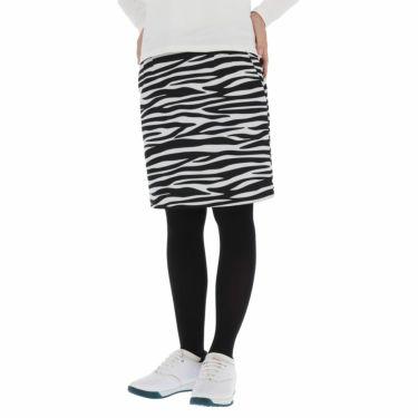 ルコック Le coq sportif レディース ゼブラ柄 裏起毛 ストレッチ ボンディング スカート QGWSJE12 2021年モデル ホワイト(WH00)