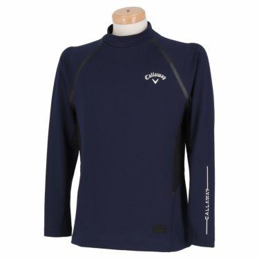 キャロウェイ Callaway メンズ ロゴプリント メッシュ切替 長袖 モックネックシャツ C21233105 2021年モデル グレー(1021)