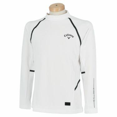 キャロウェイ Callaway メンズ ロゴプリント メッシュ切替 長袖 モックネックシャツ C21233105 2021年モデル 詳細2