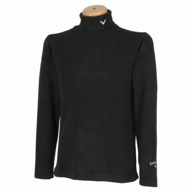 キャロウェイ Callaway メンズ ロゴ刺繍 起毛素材 長袖 タートルネックシャツ C21233108 2021年モデル ブラック(1010)