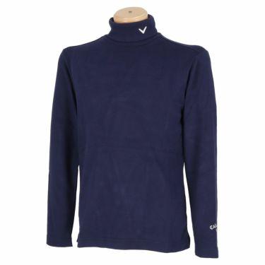 キャロウェイ Callaway メンズ ロゴ刺繍 起毛素材 長袖 タートルネックシャツ C21233108 2021年モデル ネイビー(1120)