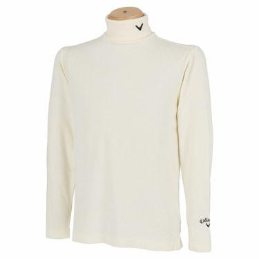 キャロウェイ Callaway メンズ ロゴ刺繍 起毛素材 長袖 タートルネックシャツ C21233108 2021年モデル ホワイト(1031)