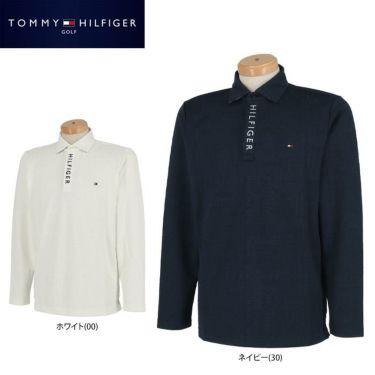 トミー ヒルフィガー ゴルフ メンズ 総柄 ロゴジャガード 長袖 ポロシャツ THMA154 2021年モデル 詳細1