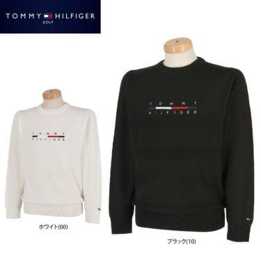 トミー ヒルフィガー ゴルフ メンズ ロゴ刺繍 長袖 クルーネック セーター THMA165 2021年モデル 詳細1