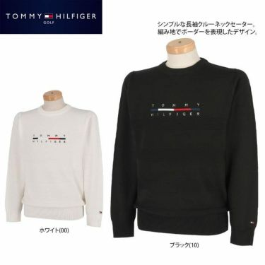 トミー ヒルフィガー ゴルフ メンズ ロゴ刺繍 長袖 クルーネック セーター THMA165 2021年モデル 詳細2