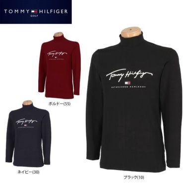 トミー ヒルフィガー ゴルフ メンズ ロゴプリント 長袖 ハイネックシャツ THMA178 2021年モデル 詳細1