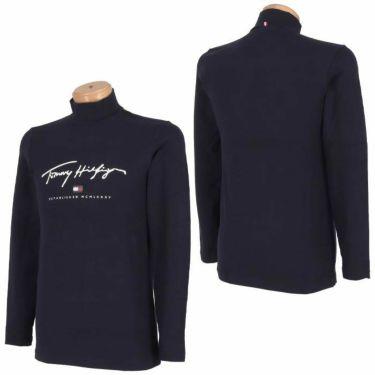 トミー ヒルフィガー ゴルフ メンズ ロゴプリント 長袖 ハイネックシャツ THMA178 2021年モデル 詳細3