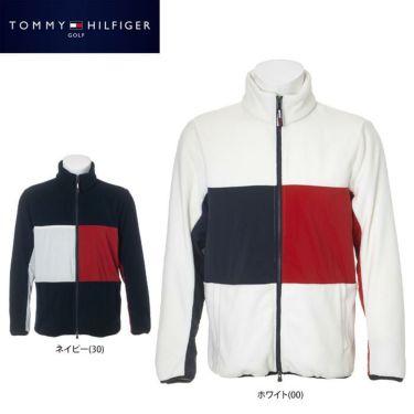 トミー ヒルフィガー ゴルフ メンズ 生地切替 フリース 長袖 フルジップ ジャケット THMA181 2021年モデル 詳細1