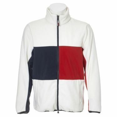 トミー ヒルフィガー ゴルフ メンズ 生地切替 フリース 長袖 フルジップ ジャケット THMA181 2021年モデル ホワイト(00)