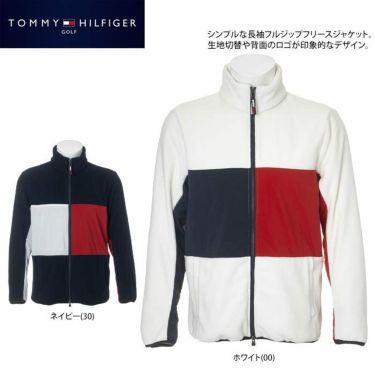 トミー ヒルフィガー ゴルフ メンズ 生地切替 フリース 長袖 フルジップ ジャケット THMA181 2021年モデル 詳細2